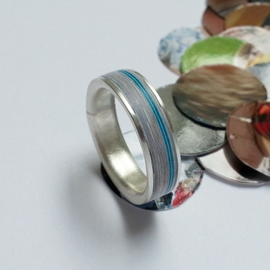 Memories Ring in Paper and Fine Silver - By Clara Breen
