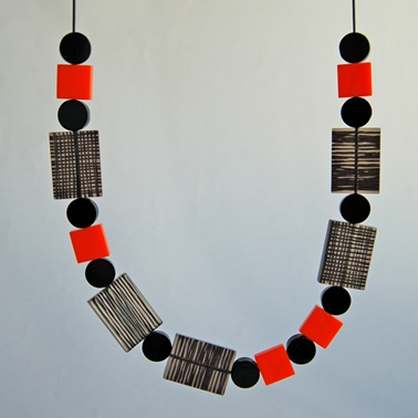 orange metro necklace