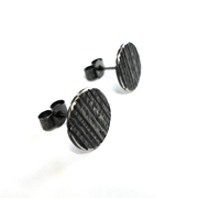 Mini Black Stripe Studs