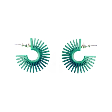 Mini Hoop Earrings Green