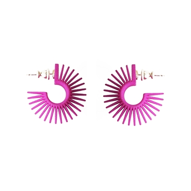 Mini Hoop Earring Pink