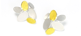Misun Won - Mixed ovals earrings