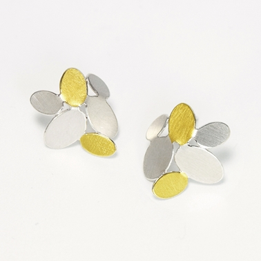 Mixed ovals earrings with Keumboo
