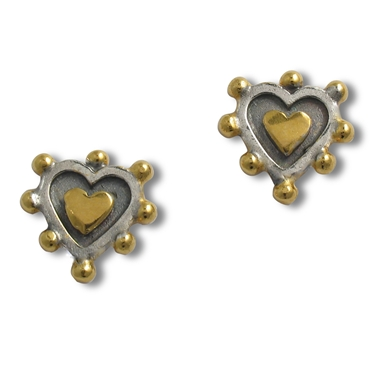 Sacred Heart Stud Earrings
