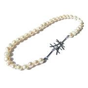 Monochrome classic freswater pearl necklace
