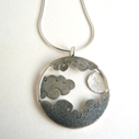 Moon and clouds pendant