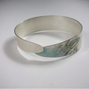 Alula bangle blue/grey enamel