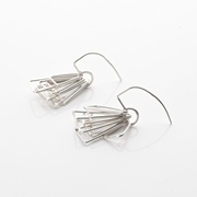 Multi Cluster earrings in Silver