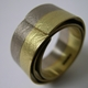 Two Golds Coil Ring