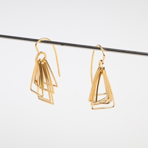 Multi triangle - gold plated