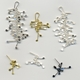 Fiona DeMarco Chaos wire stud earrings, satin