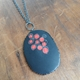 black and red bloom necklace