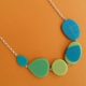 bright turquoise and lime garden necklace