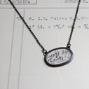 horizontal oval necklace