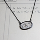 Horizontal oval postcard necklace