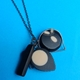 black and cream jumble necklace