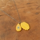 mustard little jumble necklace
