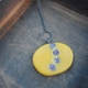 long mustard and plum necklace