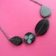 black and grey wee garden necklace