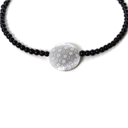 necklace silver and black