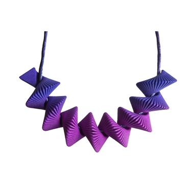 Helix Necklace - Purple