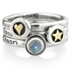 follow your heart, stacking ring set