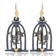 Songbird wire earrings