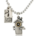 A love story necklace, closed
