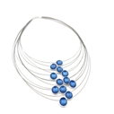 Kingfisher Multi Strand Enamel Necklace