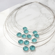 Multi Strand Necklace - Teal