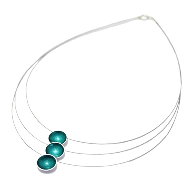 Triple Strand Enamel Necklace