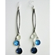 chunky waterfall drop earrings