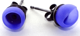 Bright blue 1 cup studs by Jenny Llewellyn