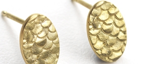 18ct gold earrings by Alison Macleod