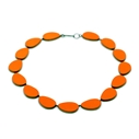 orange curve necklace