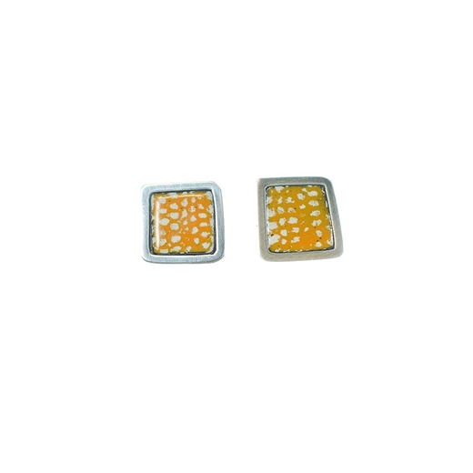 Orange Square Framed Studs