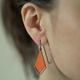 Orange Drop Earrings
