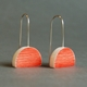 orange eclipse earrings