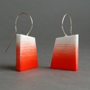 orange graffiti earrings
