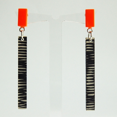 orange metro earrings