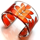 Orange Rowan Leaf cuff