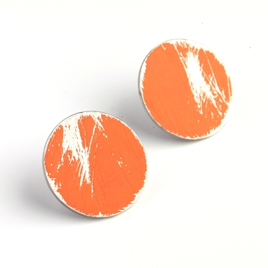 Small Orange Buoy Studs