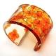 Orange Tiny Hydrangea Cuff Bracelet