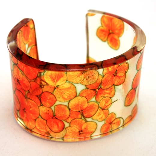 Orange Tiny Hydrangea Cuff