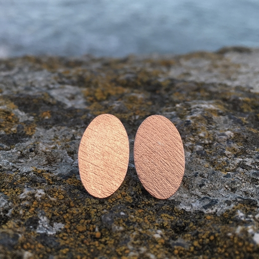 oval driftwood studs