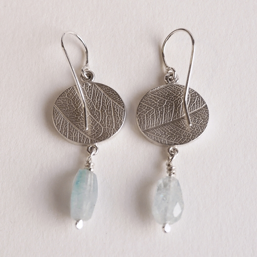 oval fern drop earring back