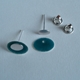 Oval stud earring parts