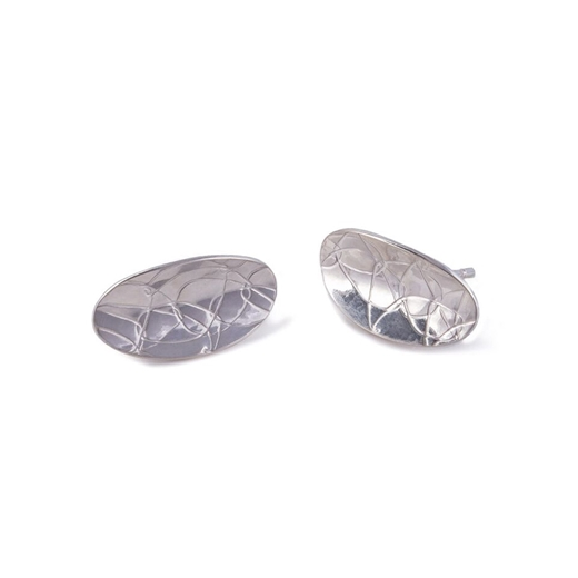 Oval Studs Silver