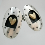 Dotty oval earrings