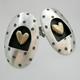Dotty oval earrings
